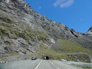The entrance to the Homer tunnel