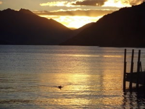 Sunset over Queenstown