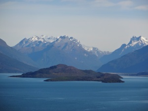 The 3 Islands at the top of Lake Wakatipu