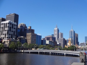 A view of Melbourne CBD from the Southbank