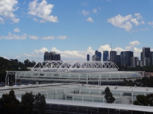 The Rod Laver arena viewed from the MCG. This is the main show court for the Aussie open tennis