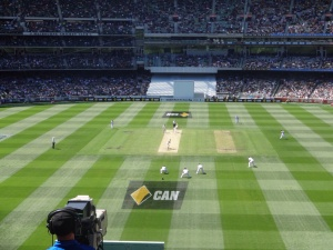 The tv cameras view at the MCG.