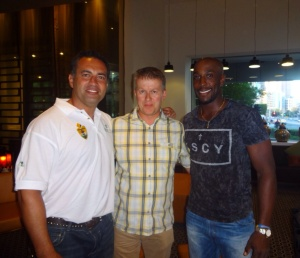 Me with Adam Hollioake and Michael Carberry.