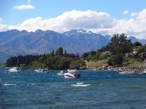 View from the town of Wanaka
